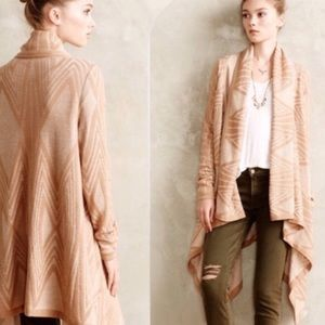 Anthropologie • Moth Drapey Open Front Cardigan